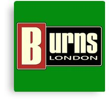 Vintage Burns London Canvas Print