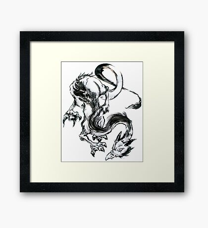 Dragon Brush Framed Print