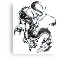 Dragon Brush Metal Print