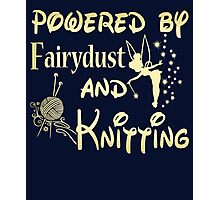 Powered by Fairydust and Knitting Tshirt Photographic Print