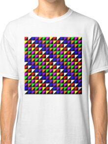 Triangle Repeated Colourful Pattern Classic T-Shirt