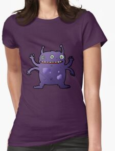 3 Eyes 4 Arms Alien Womens Fitted T-Shirt