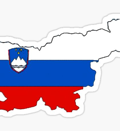 Slovenia Map With Slovenian Flag Sticker