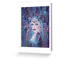 Fantasy portrait with flowers art by Renee Lavoie Greeting Card