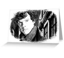 Sherlock Holmes/Benedict Cumberbatch Greeting Card