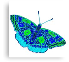 butterfly with colored patterns Canvas Print
