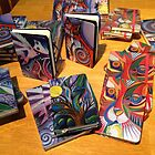 My designs on notebooks by Karin Zeller