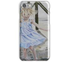 Lizzie Dancing in the Sands under the Pier on The Isle of Palms iPhone Case/Skin