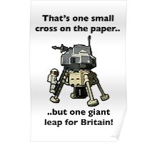 One small cross on the paper, but one giant leap for Britain Poster