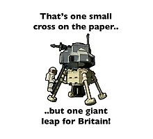 One small cross on the paper, but one giant leap for Britain Photographic Print