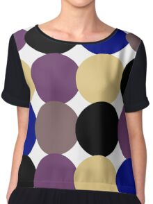 Retro Original Design Inspired 40s, 50s, 60s and Later 70s Years Chiffon Top