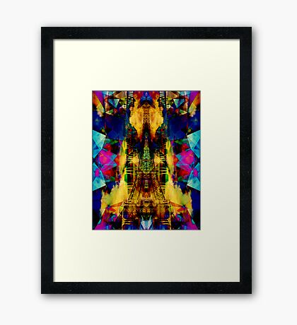 Eiffel Tower In Color Framed Print