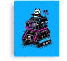 Panda's Skull Tank Canvas Print