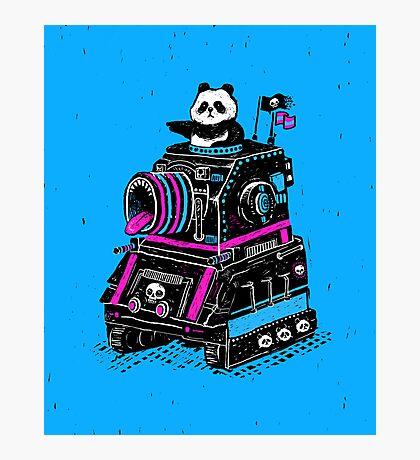 Panda's Skull Tank Photographic Print