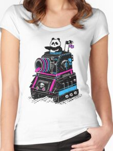 Panda's Skull Tank Women's Fitted Scoop T-Shirt