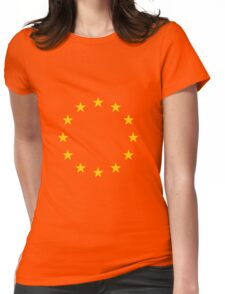 Living EU Flag Womens Fitted T-Shirt
