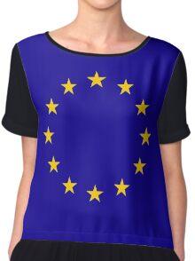 Living EU Flag Chiffon Top