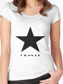 David Bowie - Blackstar tribute Women's Fitted Scoop T-Shirt