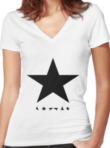 David Bowie - Blackstar tribute Women's Fitted V-Neck T-Shirt
