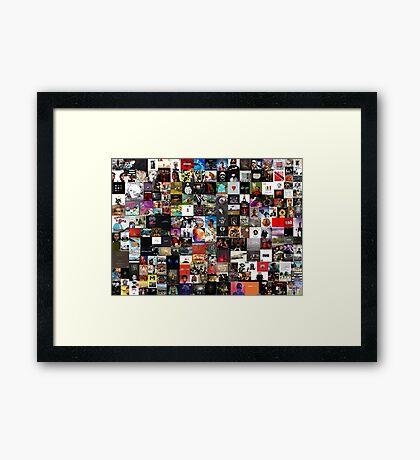 the greatest hip hop collage Framed Print