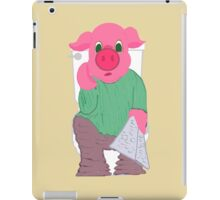Pig on the Hopper iPad Case/Skin