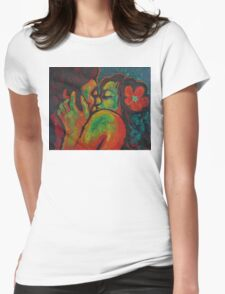 Lovers - Hot Kiss For Valentine's Womens Fitted T-Shirt