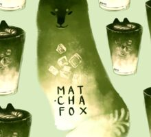 Matcha Fox Sticker