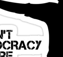 Rick Grimes - This Isn't a Democracy Sticker