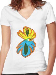 Eye Of The Monster Women's Fitted V-Neck T-Shirt