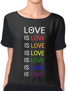 love is love Chiffon Top