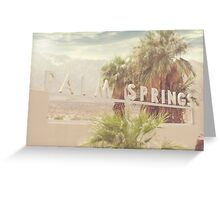 Palm Springs, California Sign Greeting Card