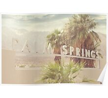 Palm Springs, California Sign Poster