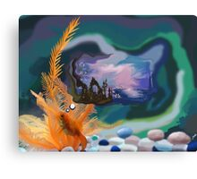Thought Gold Fish Canvas Print