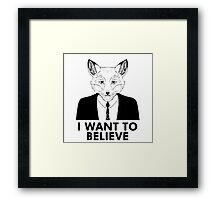 My name is Fox Framed Print
