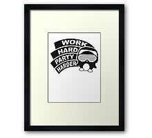 Work Hard Party Harder Logo Design Framed Print