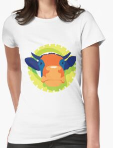 Cartoon Cow Animal Womens Fitted T-Shirt