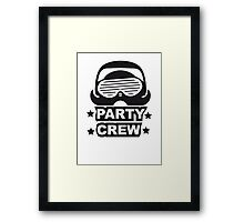 Party Team Crew Member Penguin Framed Print