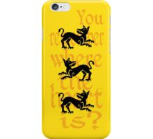 Clegane Sigil & Quote- Yellow iPhone Case/Skin