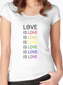 love is love is love Women's Fitted Scoop T-Shirt