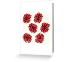 Cranberry Flowers Greeting Card