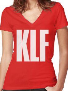 KLF TEXT TEE Women's Fitted V-Neck T-Shirt