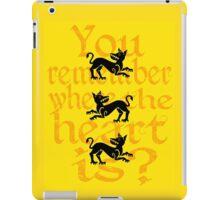 Clegane Sigil & Quote- Yellow iPad Case/Skin