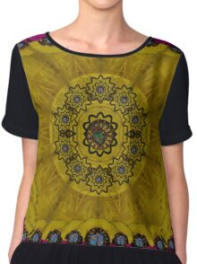 Yin and Yang in pattern and landscape style Chiffon Top