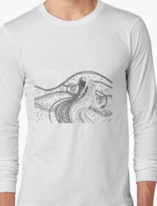 Fantasy woman into the Universe space.  Long Sleeve T-Shirt