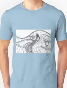 Fantasy woman into the Universe space.  Unisex T-Shirt