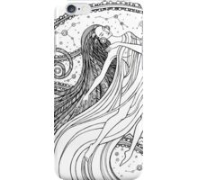 Fantasy woman into the Universe space.  iPhone Case/Skin