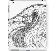 Fantasy woman into the Universe space.  iPad Case/Skin