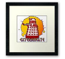 Doctor Who: Exterminate Dalek Art Framed Print