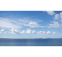 Seascape with Cloudy Sky Photographic Print