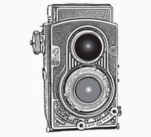 Vintage Retro Camera Kids Tee